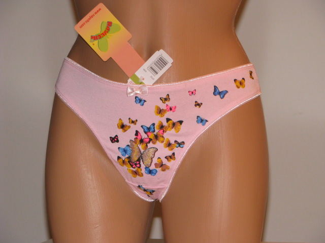 Pink butterfly thong