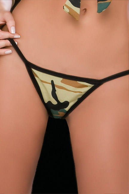 Camouflage Thong.
