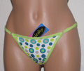 Adjustable thong with polka dots