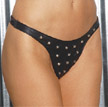 Women's Studded Leather Thong.